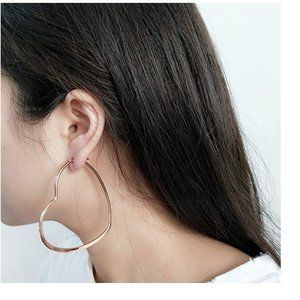NWT, Big Heart Hoop Earrings